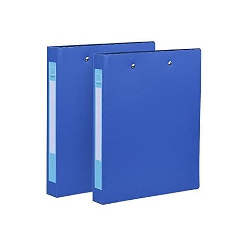 HJL Doppel Clip Ordner für Dokumente Ordner-Organizer Stationery Ordner Kunststoff-Ordner Blau 2 X (Raccoglitore Ad Anelli Files)