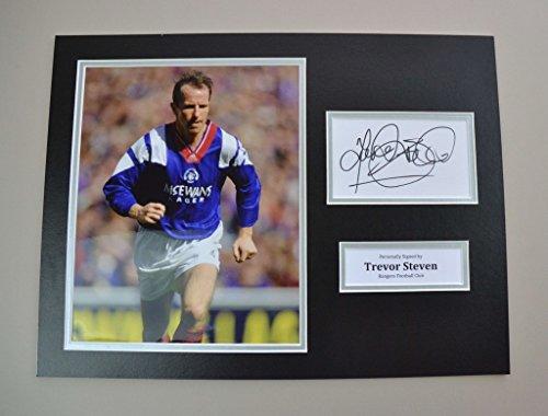 Trevor-Steven-Signed-16×12-Photo-Autograph-Display-Rangers-Memorabilia-COA