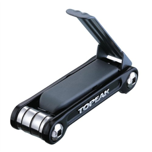 Topeak Mini 9 Pro Miniwerkzeug Mini Klapp Tool Fahrrad Innensechskant Schraubendreher + Tasche, Mini9Pro Schwarz
