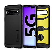 Spigen Tough Armor Galaxy S10 5G Case Cover with Shockproof Protection and Integrated Kickstand for Samsung Galaxy S10 5G (2019) - Black