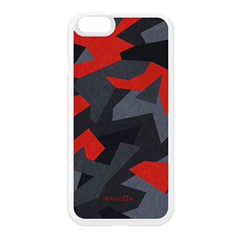 red-camo-pattern-white-silicon-rubber-case-for-iphone-6-by-ultracases-free-crystal-clear-screen-prot