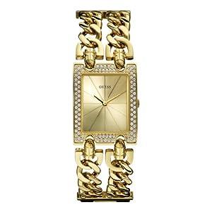 Reloj Guess W0072L1 de cuarzo para mujer con correa de acero inoxidable, color dorado de Guess