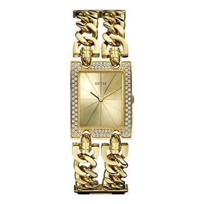 Guess W0072L1 de cuarzo para mujer con correa de acero inoxidable, color dorado