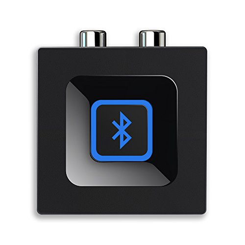 Esinkin Bluetooth Audio Adapter fürs Musik-Streaming-Sound System, Drahtloser Audio Adapter Arbeitet mit Smartphones und Tablets, Bluetooth-Empfänger für Lautsprecher-Schwarz (Empfänger-system)