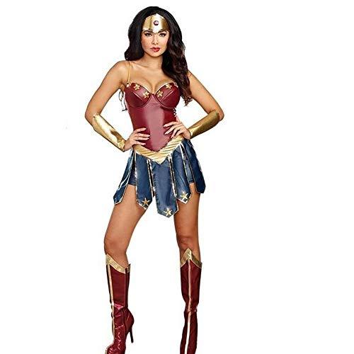 Wei Mei Halloween-Kostüm, Cosplay-Kostüm für Erwachsene, sexy Superhelden-Kostüm, Design: Wonder Woman, ideal für Fasching, Themenpartys und Halloween, Gr. S [Energieeffizienzklasse A]