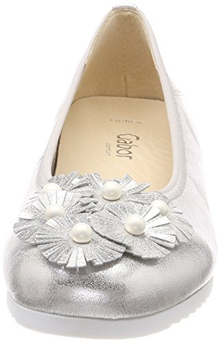 Gabor Damen Comfort Sport Geschlossene Ballerinas Mehrfarbig (Silber (Obl))