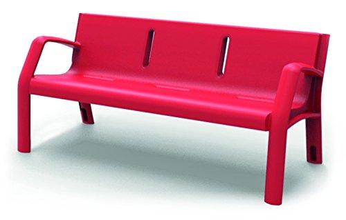 Größer–Bank Garten Kunststoff Außen 170cm rot