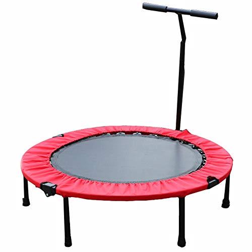 WZFC Mini Trampolín, para niños Fitness Ejercicio Plegable trampolín para Adultos Indoor Outdoor,Red,50inches