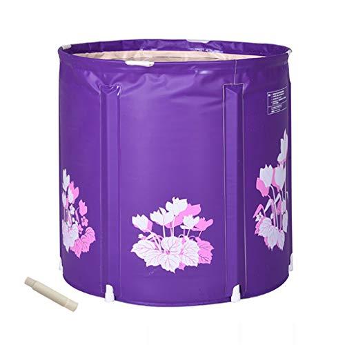 CQ Badewanne Aus PVC-Kunststoff, Faltbadewanne Für Erwachsene, Großer, Dicker Whirlpool, Aufblasbar. Warmhalten Sie Den Mann, Frau, Schwimmbad, 2 Farben, 2 Größen (Farbe : Purple, größe : 60 * 65cm) (2-mann-whirlpool)