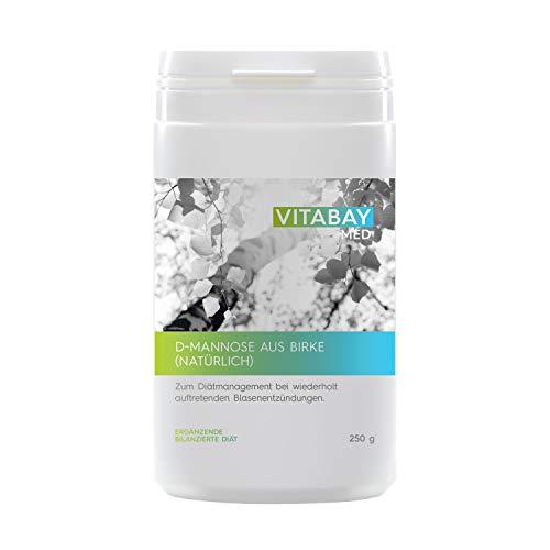 D-Mannose Pulver 200g - aus Birke vegan naturbelassen und unbestrahlt - Zum Diätmanagement bei wiederholt auftretenden Blasenentzündungen