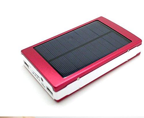 Solar Power Bank Akku Ladegerät tingso 12000 mAh Dual USB Portable Solar Ladegerät Power Bank für Handy, iPhone, iPad, Samsung, HTC etc.