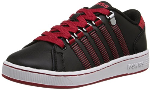 K-Swiss Lozan Sneaker (Little Kid/Big Kid), Black/Mars Red, 1 M US Little Kid (Big School Kids Sneakers)