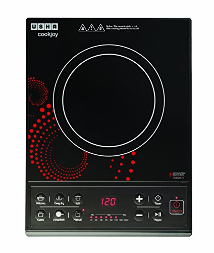 Usha IC 3616 Induction Cooktop (Black, Red, Push Button)