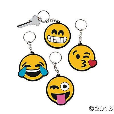 Emoticon Emoji Key Chains 12 Ct