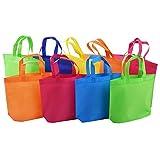 10 bolsas de transporte no tejidas, bolsas publicitarias convencionales, que llevan un organizador de la compra con asas.