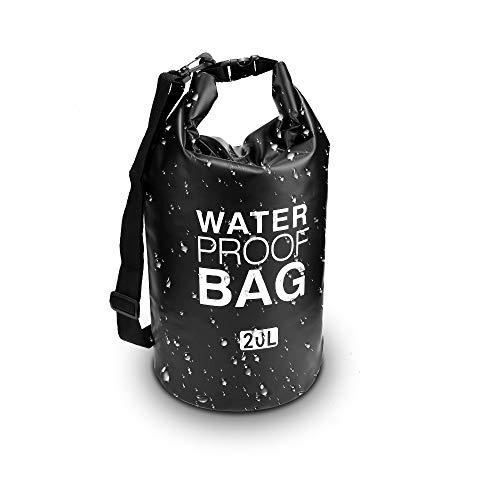 Zorara Dry Bag, 2L/5L/10L/15L/20L/30L Verdicktes 500D PVC Wasserdichter Packsack/Wasserdichte Tasche/Trockensack/Wasserdichte trockener Beutel mit Verstellbarer Schultergurt für Kajak Rafting Segeln