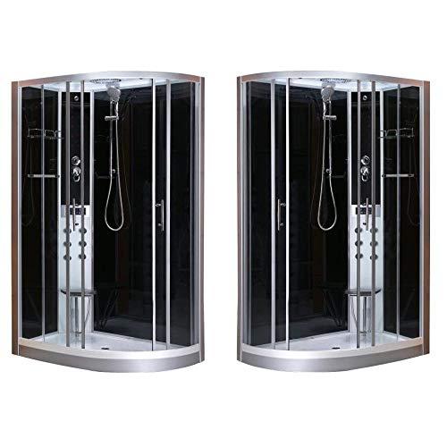 Cabina Idromassaggio 80x120 box doccia versione destra o sinistra sistema quick line 6 getti