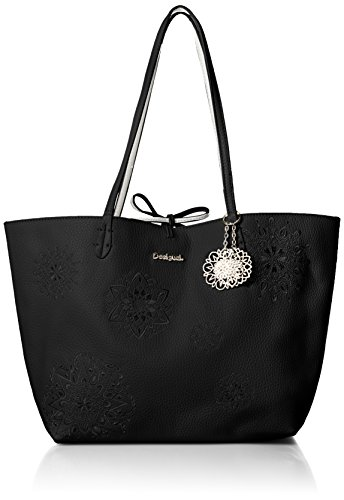 BORSA SHOPPING DESIGUAL DOUBLE' (NERO/BIANCO) 29 x 20 x 14 cm