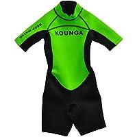 Kounga Deep Water Shorty Traje de Surf, Unisex niños, Verde/Negro, 6