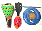 Fun Toys Summer Toy Kit for Active Kids It Includes, Soft Frisbee, Missile Ball and Click & Catch Game.