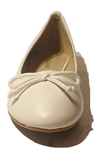 VIANDANTE , Ballerines femme Blanc Cassé - Bianco