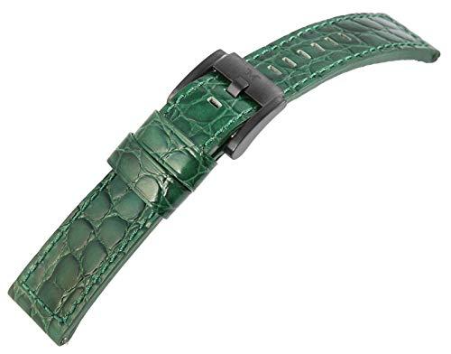 Marc Coblen grünes 22mm Leder Uhren Armband Robust Ersatzband Dornschließe TW Steel