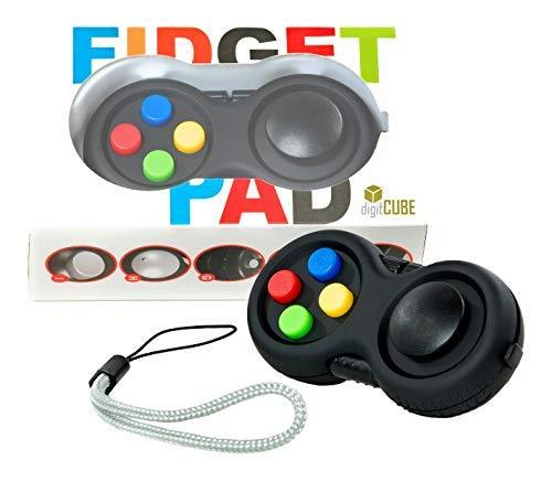 Fidget Pad controller contro nervosismo in confezione regalo per adulti e bambini-maximaler gioco divertimento per Viaggio, con 8funzioni-Outdoor Stress Killer giocattolo