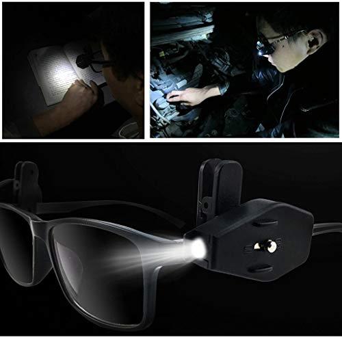 AmyGline Mini LED Taschenlampe Brillen Licht tragbare Outdoor Fischen Licht Notlicht Taschenlampe Lesung 2St