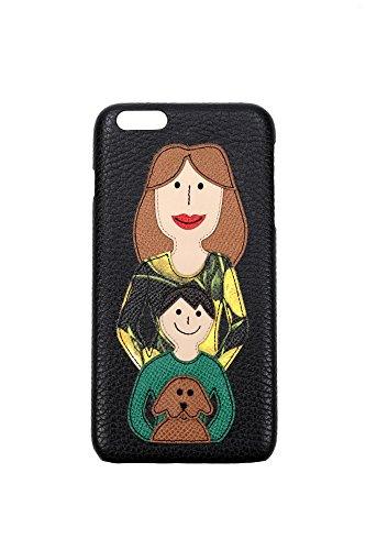 BI0819AB43580999 Dolce&Gabbana Coque Iphone Femme Cuir Noir Noir