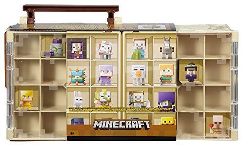 Mattel Mine Mini Figur Sammlergehäuse | Wüste Themen Design Hält 32 Mineminifiguren (Mini Minecraft)