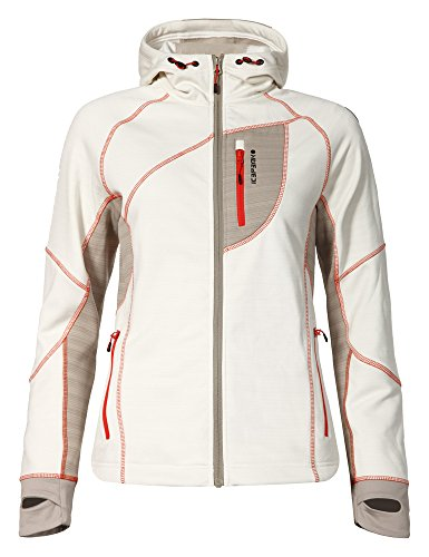 ICEPEAK – Forro Polar Senga, Mujer, Color Blanco - Natural White, tamaño 44 [DE 42]
