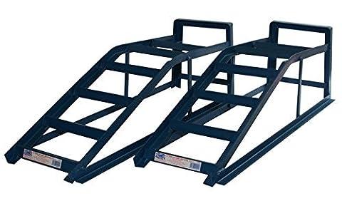 Pair of Metal Ramps 2.5 Tonne (2500kg) Heavy Duty Extra Wide Ramp Car Maintenance Lifting Equipment CRW25