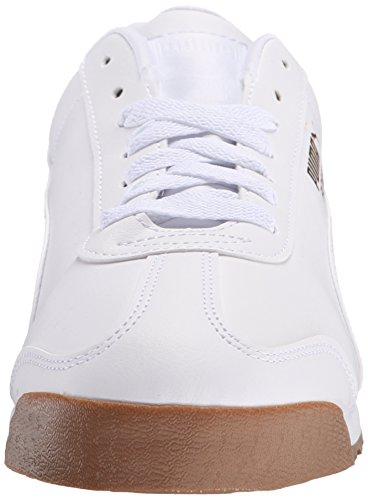 Puma Roma Basic Synthétique Chaussure de Marche White-White-Gum