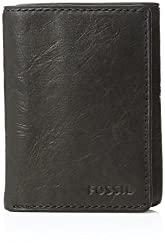 Fossil Black Wallets and Passport Holders (ML3289001)
