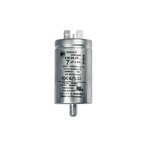 ORIGINAL Candy Hoover 41039164 Kondensator Motorkondensator Betriebskondensator 7µF mit Steckfahnen Waschmaschine -