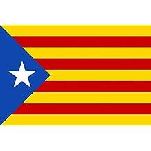 ecb2a72894b11 MC-TREND® Gran Bandera de Cataluna Estelada Blava 90x150cm - Catalana -  Catalunya