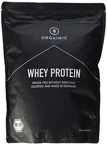 ORGAINIC Bio Whey Protein Pulver - Bio Zertifiziert - Bio Eiweißpulver aus Deutschland - Grasfütterung - 1000g (Kakao)