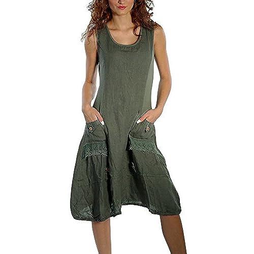 Amazon Uk: Women's Linen Dresses: Amazon.co.uk