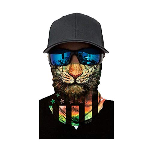 NINGSANJIN Face Shield Sturmhaube ,viele verschiedene Designs* Multiunktionstuch Maske Fishing Totenkopf Schal Skull Bandana Gesichtsmaske Halstuch Ski Motorrad Paintball Face Shields Maske (S)