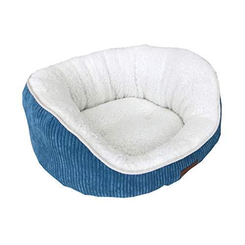Buch Kostüm Cord - JXLBB Blaue Cord-Lammfell-Katzenstreu dicke und weiche tiefe Schlaf Nest Pet Nest Katzenstreu Cat Bed Cat House Winter Essential