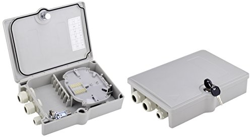 Digitus Professional DN-968913 FTTH Distribution Box für Außen 6X SC/DX Adapter, IP65 - Distribution Box Halterung
