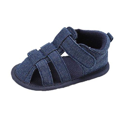 FNKDOR Babyschuhe Mädchen Jungen Neugeborene Weiche Rutschsicheren Baby Schuhe (6-12 Monate, Marineblau)