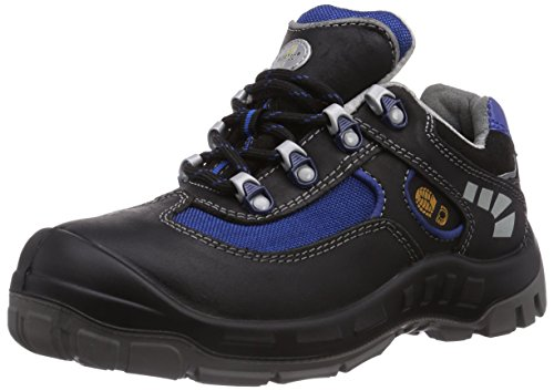 Wortec Jazek S2, Chaussures de sécurité mixte adulte Schwarz (Schwarz/Blau)