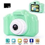 Vssictor Digitalkamera für Kinder 1080P HD Digitalkamera für Kinder mit 16 GB SD-Karte und Kartenleser-Geschenkset