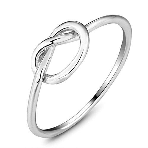 Daesar Silber Ring Frauen Unendlichkeit Knot Ring 6MM Daily Wear Größe:52 (16.6)