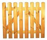 StaketenTür 'Standard' 100x85/85 cm - gerade - kdi / V2A Edelstahl Schrauben verschraubt - aus frischem Holz gehobelt - gerade Ausführung - kesseldruckimprägniert