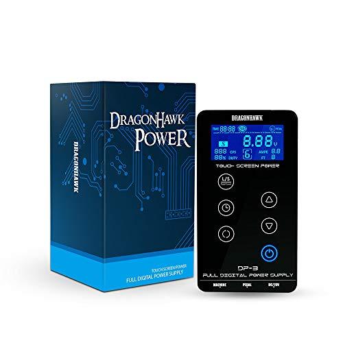 DragonHawk Mast Tattoo Power Supply Touch Screen Digital LCD Supplies Set for Tattoo Machines P093-2 Digitale Tattoo Power Supply