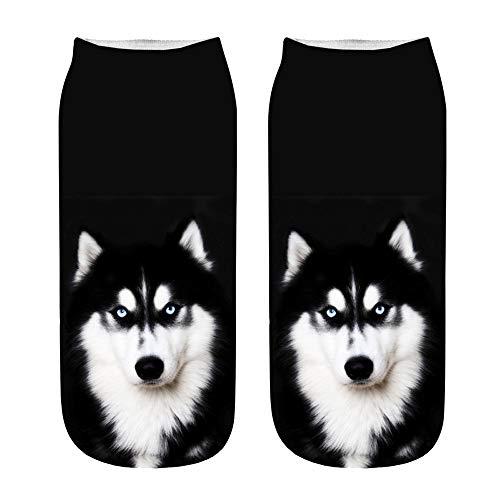 YJYDADA Socken, beliebte lustige Unisex-Socken mit 3D-Hundemotiv, Fußkettchen P (Gold Toe Fashion Socken Frauen)