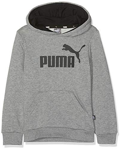 Puma Jungen ESS Logo Hoody TR B Pullover, Medium Gray Heather, 176 (Puma Kleidung Für Jungen)