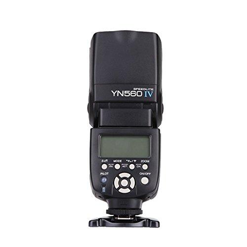 Yongnuo YN560 IV 2.4GHz Flash Speedlite YN560 IV con Transceptor de Apoyo YN560-TX, RF- 603 (I / II) , RF- 602 para Canon Nikon Pentax Panasonic + WINGONEER Difusor